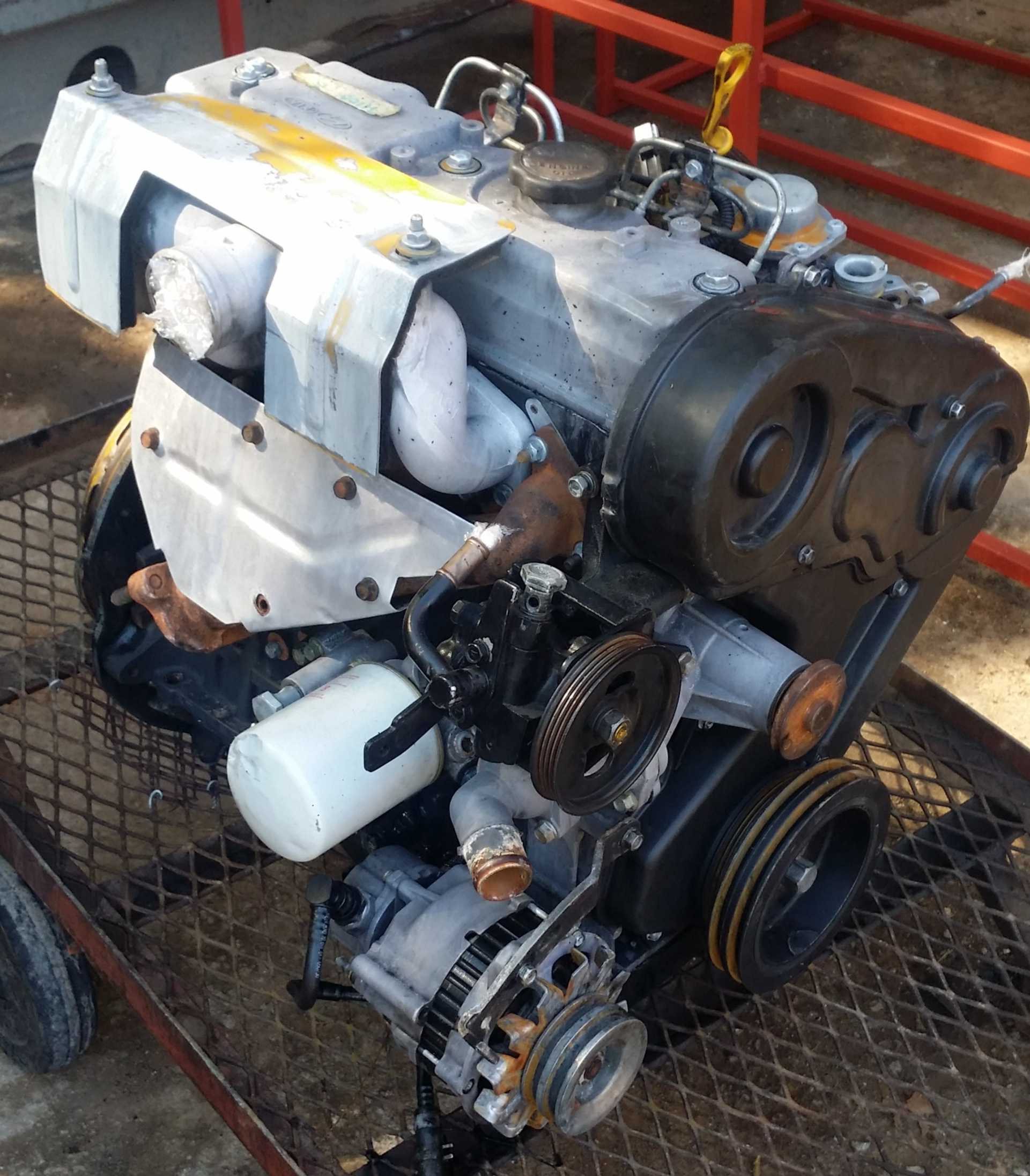 Hyundai H100 2 6 D Complete Engine Matadoor Salvage